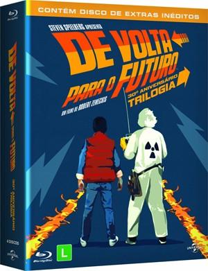 Blu-ray da trilogia 'De volta para o futuro' (Foto: Divulgação)