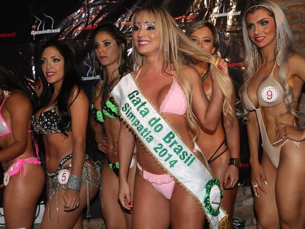 Cris Lopes, do Rio Grande do Sul, é eleita mais simpática no Gata do Brasil (Foto: Iwi Onodera/ EGO)