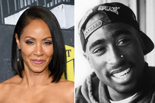 A atriz Jada Pinkett Smith e o rapper Tupac (Foto: Getty Images/Reprodução)