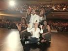 Famosos lotam plateia de Tiago Abravanel durante show no Rio