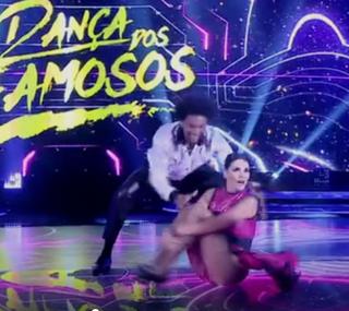 Lisandra Souto e Marcus Lobo na 'Dança dos Famosos' (Foto: Reprodução/TV Globo)
