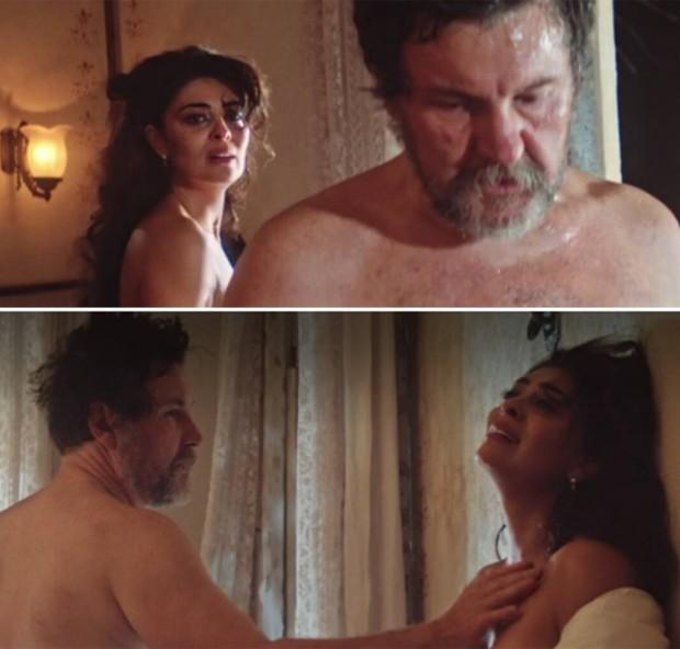 Juliana Paes e Antonio Calloni em cena de 'Dois Irmãos' (Foto: Reprodução)