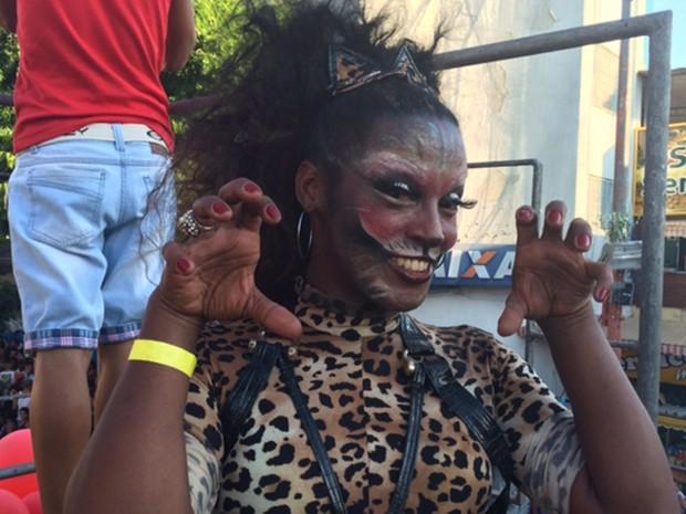 Parada gay em Madureira (Foto: Cristina Boeckel/G1)