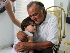 Em quase desde quarta-feira (22), Gileno se emociona ao reencontrar sobrinho (Foto: Jamile Alves/G1 AM)