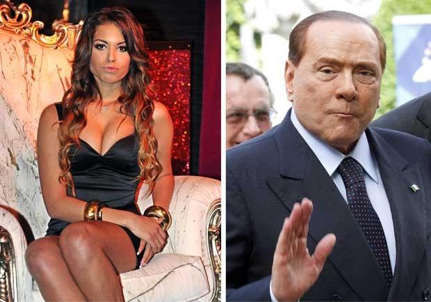 Montagem mostra Karima El Marough, conhecida como Ruby, em foto de novembro de 2010 e o ex-premiê italiano Silvio Berlusconi, em foto de junho de 2012 (Foto: Reuters)