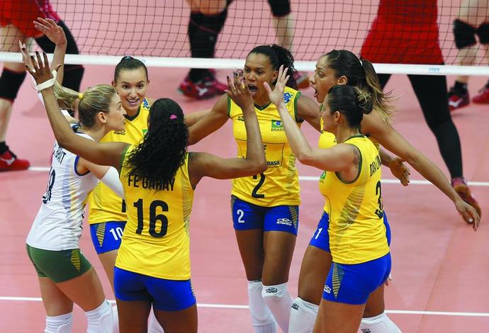 Brasil vence o Japão (Foto: Divulgação/FIVB)