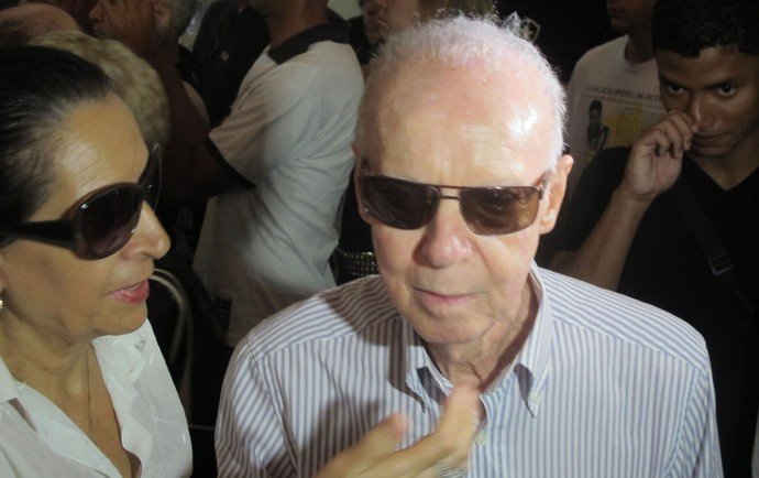 Zagallo velório Nilton Santos Botafogo (Foto: Fred Huber)