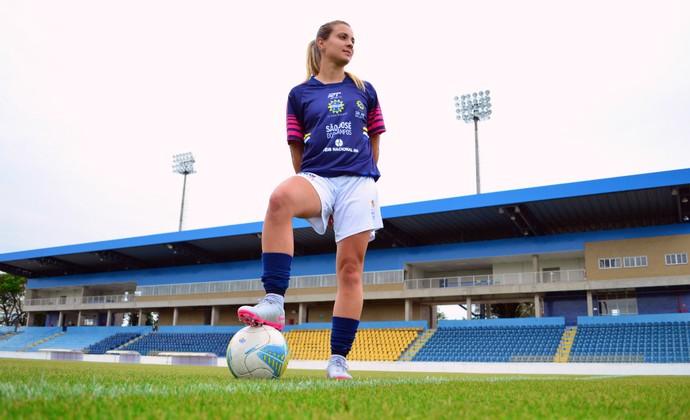 Djenifer Becker São José futebol feminino (Foto: Danilo Sardinha/GloboEsporte.com)