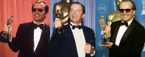 Jack também foi agraciado três vezes pela Academia: Melhor Ator, em 1976 e 1998; e Melhor Ator Coadjuvante, em 1984 (Foto: Reprodução)