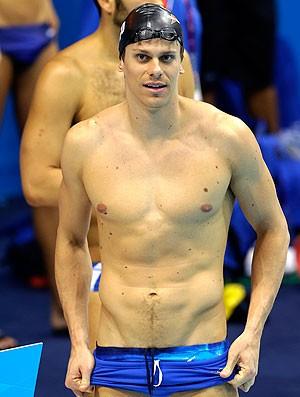 Cesar Cielo treino natação em Londres (Foto: AP)