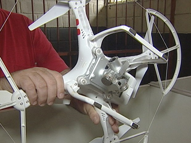 Drone Uberaba mulher susto disco voador (Foto: Reprodução/ TV Integração)
