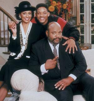 James Avery aparece como Tio Phill ao lado de Will Smith em imagem do seriado 'Um Maluco no Pedaço' (Foto: NBC/Stuffed Dog/Quincy Jones Ent / The Kobal Collection)
