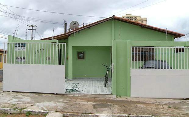 Crime aconteceu nesta casa na manhã deste domingo (4) (Foto: Reprodução/Inter TV Cabugi)