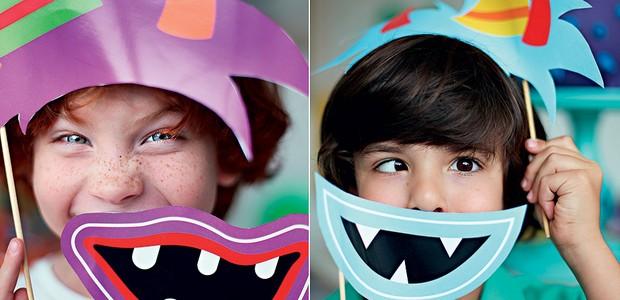 Para deixar o encontro dos pequenos ainda mais animados, máscaras de papel  (Foto: Rogério Voltan/Casa e Comida)