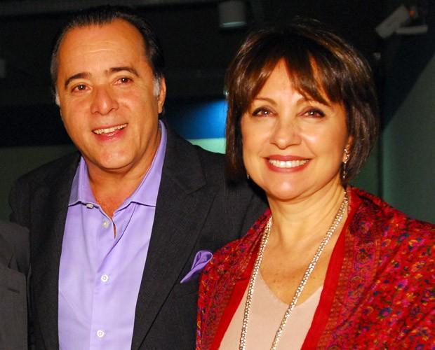 Tony Ramos com a esposa LIdiane, em 2011 (Foto: TV Globo / Zé Paulo Cardeal)