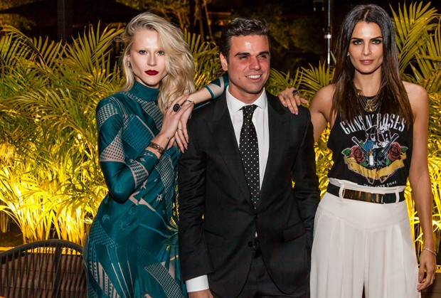 Alicia Kucsmann, o promoter Beto Pacheco e a modelo Fernanda Motta (Foto: Divulgação/GQ)