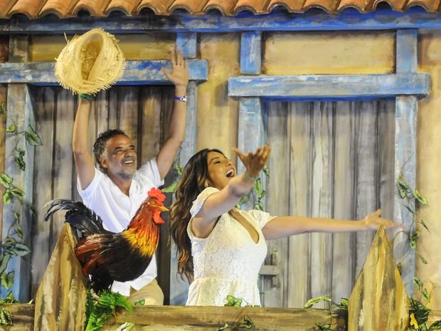 """Atores Dira Paes e Ângelo Antônio, que interpretaram os pais da dupla homenageada no filme """"2 filhos de Francisco"""" (Foto: Alexandre Durão/G1)"""