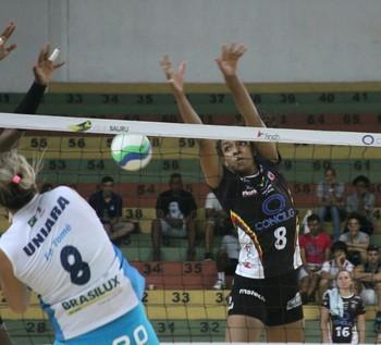 Bauru x Araraquara, vôlei feminino, Jogos Abertos 2014 (Foto: Cristiano Zanardi / Divulgação JAIs)