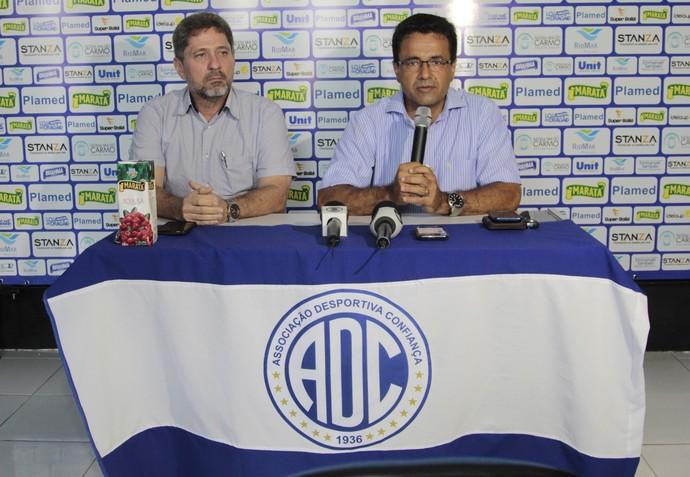 Luiz Roberto e João Fonseca (Foto: Osmar Rios / GloboEsporte.com)