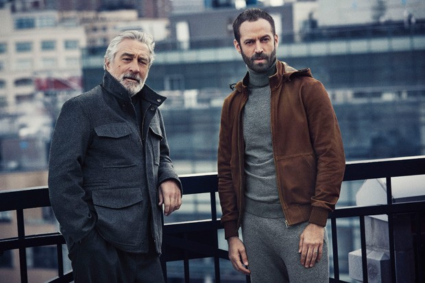 Robert de Niro e Benjamin Millepied na nova campanha da Ermenegildo Zegna (Foto: Divulgação)