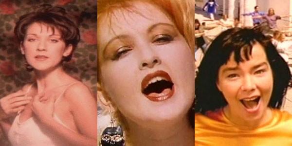 Celine Dion, Cyndi Lauper e Björk já fizeram covers de grandes sucessos na música (Foto: Reprodução/YouTube)