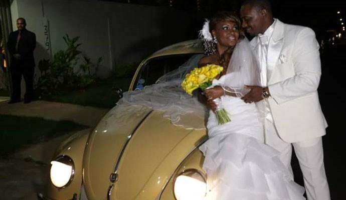 Fusca de Renato foi alugado para sessão de fotos de casamento (Foto: Arquivo Pessoal)