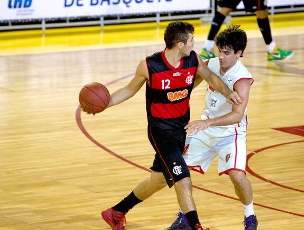 Flamengo basquete contra Londrina LNB (Foto: Bruno Spada / LNB)