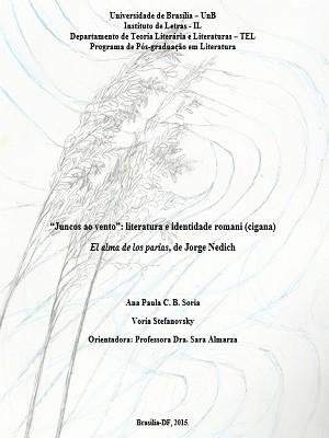 Capa da dissertação de Paula Soria (Foto: Reprodução)