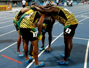 Nickel Ashmeade, Warren Weir, Jermaine Brown and Yohan Blake jamaica mundial de atletismo