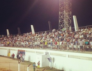 Estádio Marizão recebe bom público para Corintians x Potiguar de Mossoró (Foto: Antonio Netto/Inter TV Cabugi)