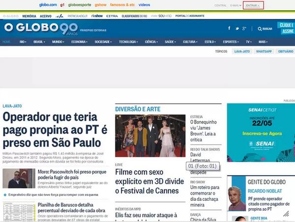 Jornal Globo (Foto: Jornal Globo)