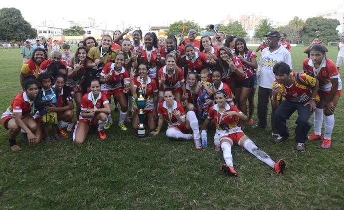 Vila Nova-ES, bicampeão do Capixabão Feminino (Foto: Vitor Jubini/A Gazeta)