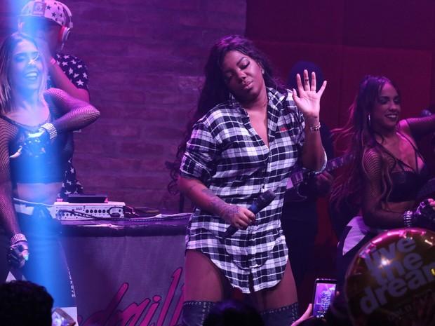 Ludmilla em show em São Paulo (Foto: Thiago Duran/ Ag. News)