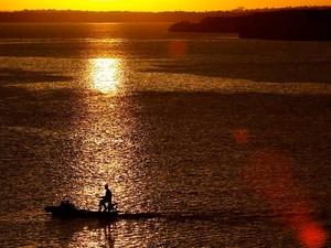Pôr do sol no rio Potengi (Foto: Canindé Soares)