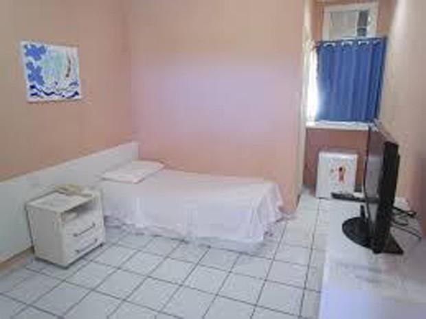 Alojamento onde a ex-prefeita Lidiane Leite ficará detida, em São Luís (Foto: G1)