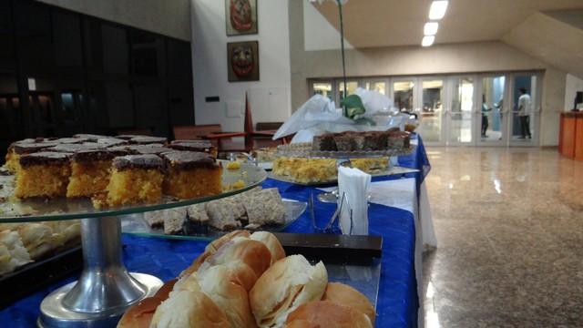 Café da manhã para clientes e agências da região da Baixada Santista (Foto: Jean Fernandes)