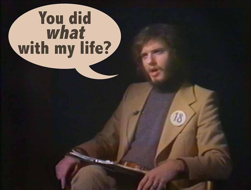Esse homem foi entrevistado por ele mesmo 38 anos mais novo