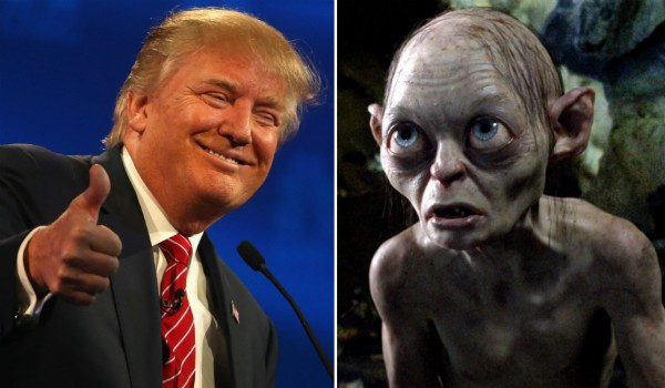 Donald Trump e Gollum (Foto: Getty Images/Reprodução)
