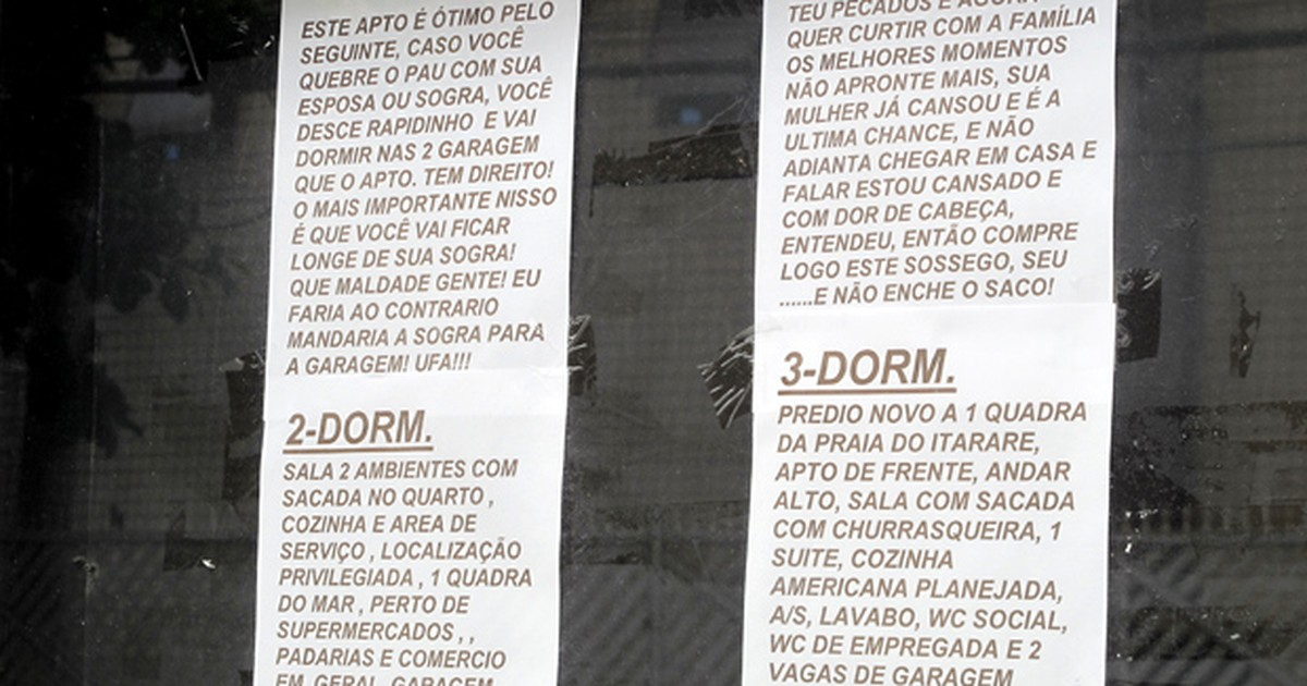 b0c619932 G1 - Dono de imobiliária aumenta vendas em 40% criando chamadas curiosas -  notícias em Santos e Região