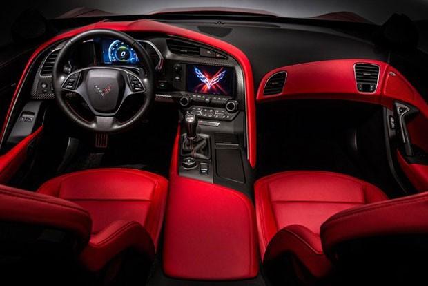 Detalhe do interior do novo Corvette (Foto: Divulgação)