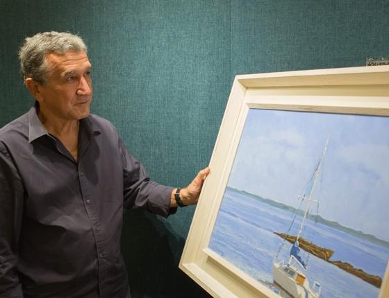 Carlos Alberto Parreira inaugura exposição só com quadros pintados por ele, nesta quinta-feira, no Rio (Foto: Divulgação)