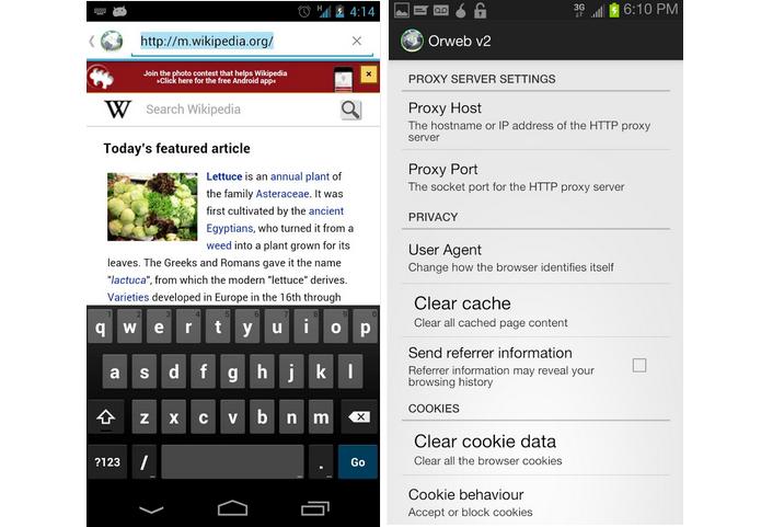 Orweb é um navegador de Internet para Android que oferece acesso seguro e com privacidade (Foto: Divulgação)