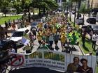 Manifestação em Santos pede a saída da presidente Dilma Rousseff