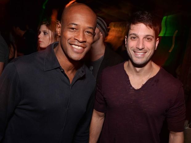 Lui Mendes e Marco Antônio Gimenez em festa no Rio (Foto: Ari Kaye/ Divulgação)