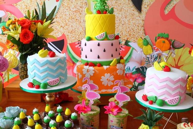 Decoração da festa de aniversário de Luisa, filha de Rafael Zulu (Foto: Anderson Borde / Agnews)