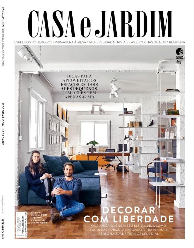 O arquiteto Fernando Forte e a namorada Luciana Fígaro (Foto: Victor Affaro / Editora Globo | Produção Bruna Pereira)