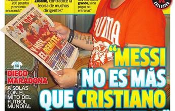 """Maradona exalta Neymar: """"Já são três cavalos que correm para ser o melhor"""""""