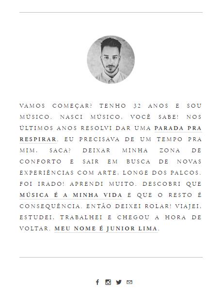 Junior Lima (Foto: Reprodução/ Site Oficial)