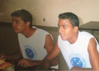 Márcio Paraíba e Maílson juntos na época de Cruzeiro de Itaporanga (Foto: Maílson Veriato/Arquivo Pessoal)