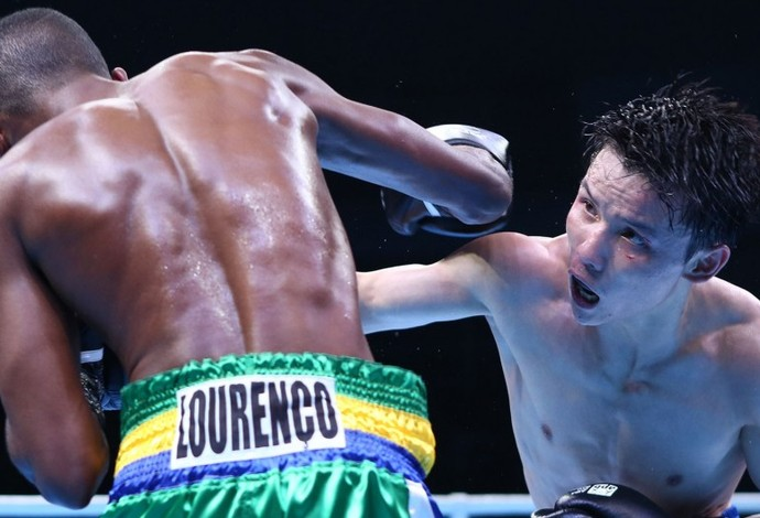 Patrick Lourenço Jonghun Shin boxe (Foto: Divulgação)